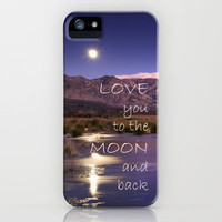 Love you to the moon and back.  Valentines Day iPhone Case by Guido Montas | Society6
