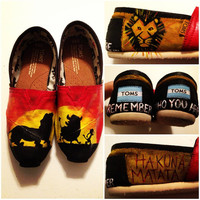 Custom HandPainted Lion King Toms Shoes All by jessicalexis