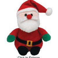 Santa Claus Ornament - 5&quot; - Ty Jingle Beanie