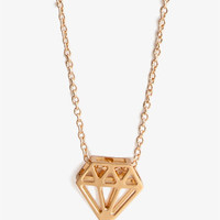 Cutout Diamond-Shaped Necklace | FOREVER 21 - 1022659850
