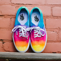 Tie dye custom Vans shoes