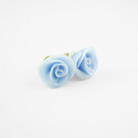 Purple Rose Stud Earrings | Luulla