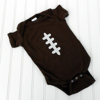 READY TO SHIP Onesuit Football by LindaSumnerDesigns on Etsy