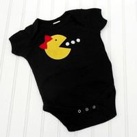 READY TO SHIP Onesuit Ms Pacman by LindaSumnerDesigns on Etsy