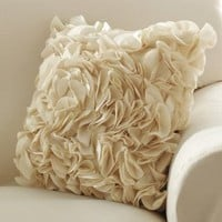 Ruffle Petal Accent Pillow Cover By Collections Etc