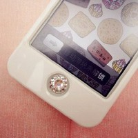 Crystal Bling bling Home button sticker for iPad iPod iPhone 4S 4 /3G 3GS