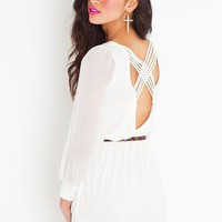 Lily Lattice Dress - Ivory in  Clothes Dresses at Nasty Gal