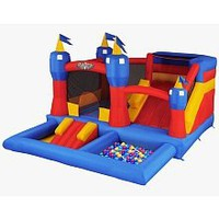 Amazon.com: Blast Zone Misty Kingdom Inflatable Bouncer - Water Park with Slide by Blast Zone: Toys & Games