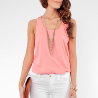 Zipper Tunic in Salmon :: tobi