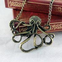 Pirates of the Caribbean octopus vintage necklace