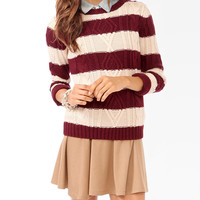 Striped Mixed Knit Sweater | FOREVER21 - 2027705685