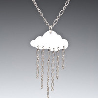 SALE! Small Rain Cloud Necklace - Unique Vintage - Prom dresses, retro dresses, retro swimsuits.
