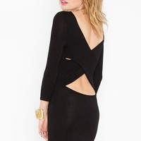 Cross Over Dress - Black in Clothes Dresses at Nasty Gal