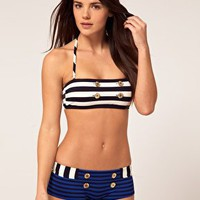 Juicy Couture Stripe Bikini & Short at ASOS