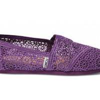 Purple Crochet Women&#x27;s Classics FREE Shipping | TOMS.com