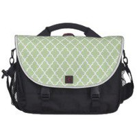 Celery Root. Mint Maroccan Trellis - Quatrefoil Laptops Bag