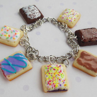 polymer clay pop tart charm bracelet