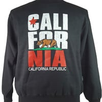 CALIFORNIA REPUBLIC CA STATE FLAG BEAR CREW NECK SWEATER SIZE MEDIUM