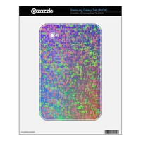 """Jigsaw Chaos"" Colorful Abstract Samsung Galaxy Tab Skins from Zazzle.com"