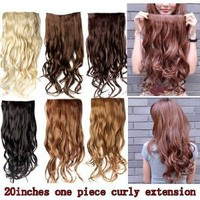 "Better Dealz 20"" 135g Long Curly Clip-on Hair Extension Wigs Chestnut Brown,chocolate Brown,light Blonde,medium Brown,brown,natural Black Six Color to Choose (chocolate Brown)"
