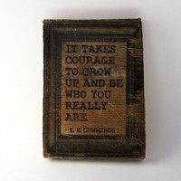 Photo Block EE Cummings Quote Wood Block Photo by ByTheSeals