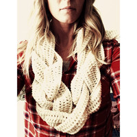 Crochet Braided Scarf PATTERN