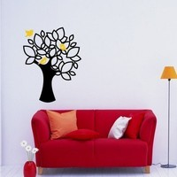 Sweet Tree Wall Decal with 3 Little Birdies by singlestonestudios