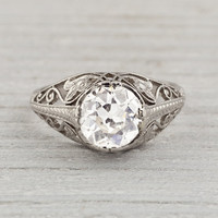 1.34 Carat Edwardian Vintage Engagement Ring