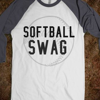 Softball Swag-Unisex White/Asphalt T-Shirt