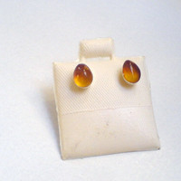 Dominican Amber studs Sterling silver 925 Honey by DOMINICANLOUNGE