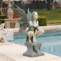 Celtic Fairy's Perilous Perch Garden Statue        -                Celtic Home Decor        -                Celtic        -                More Themes                    - Design Toscano