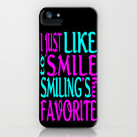 I Like Smiling iPhone Case by Alice Gosling | Society6- FREE SHIPPING TIL SUN 24th FEB!!