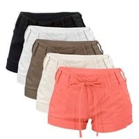 LINEN DRAWSTRING SHORTS