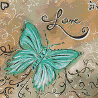 Modern Cross Stitch Kit By MADART - 'Love'
