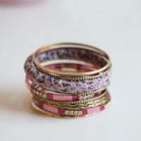 Pink Dreams Bangle Set