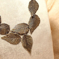 Retro Style Elegant Multi Bronze Carved Leaves by JanesGiftStore