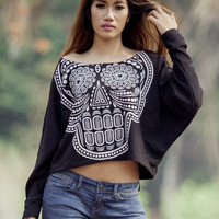 Skull sweatshirtSkull sweaterSkull Printed  on by Tshirt99 on Etsy
