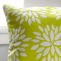 Blossom Throw Pillow Cover 16x16in Yellow by RetroMenagerie