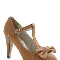 No Need to Spree Heel in Tan | Mod Retro Vintage Heels | ModCloth.com