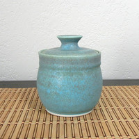 Stash Jar in Old Copper Glaze by FalconHillPottery on Etsy