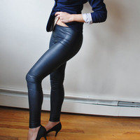 Faux Leather Party Leggings - Free US Shipping - Donation to Hurricane Sandy Relief - Item MM-L13-1B4