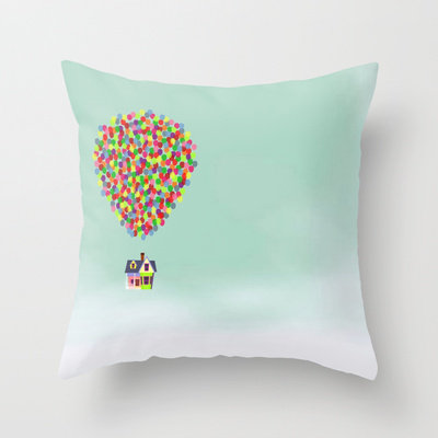 Cute Throw Pillow Society6 : Disney Pixar Up Throw Pillow by Derek from Society6 my room