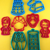 Doctor Who Cookie Cutter set of 8