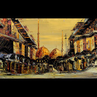 Golden Istanbul   Original painting  Free delivery  by Borettoart
