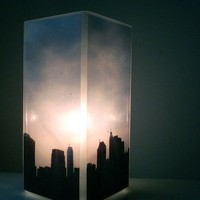 Glass Polaroid Photo Table Lamp