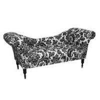 Skyline Furniture Tufted Roll Arm Chaise