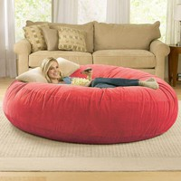Giant Bean Bag Chair Lounger at Brookstone—Buy Now!