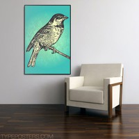 Vintage Bird Huge Art Print