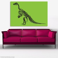 Iguanadon Dinosaur Skeleton Huge Art Print