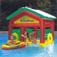 Floating Boat House Raft...
